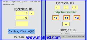 tabla pitagorica del 1 al 10