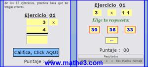 tablas de multiplicar 2 3 4