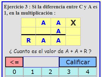 criptoaritmetica de multiplicacion para niños